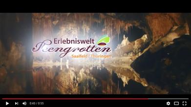 Lassen Sie sich verzaubern! Die Erlebniswelt Saalfelder Feengrotten auf YouTube.