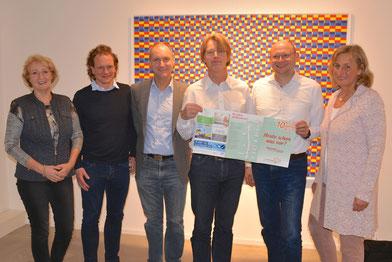 Von links: Susanne Schneider (Gründungsmitglied)  Henning Schurbohm (1. Vorsitzender)  Jan Menssen (2. Vorsitzender)  Manfred Fitz (Schriftwart)  Ulf Eggers (Mitglied Rosenthal Bäder & Wärme), Kerstin Fähndrich (Backoffice)