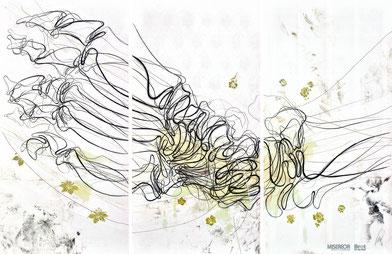 """Das MISEREOR Hungertuch 2021 """"Du stellst meine Füße auf weiten Raum"""" von Lilian Moreno Sánchez (c) MISEREOR"""