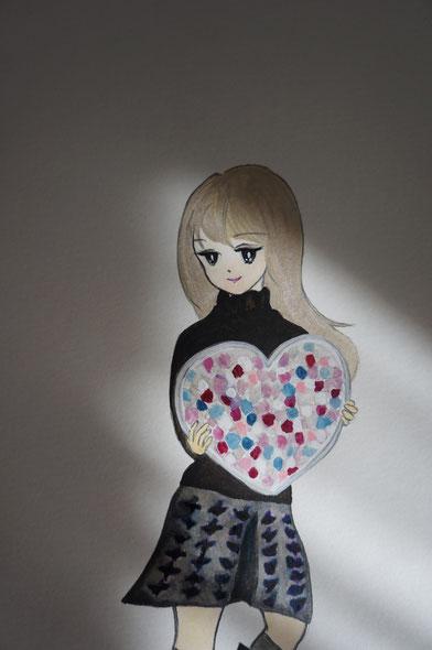 My pink crystal Valentine 2014