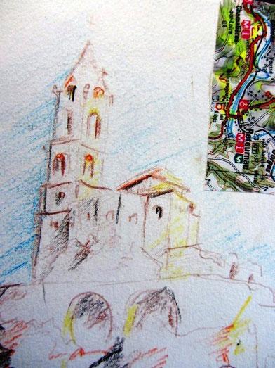 Chemin de Compostelle, voie du Puy : Le puy-en-Velay possède une superbe Cathédrale