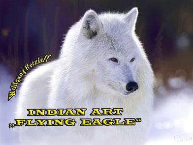 weißer Wolf 29,7 x 42 cm   10,00 €