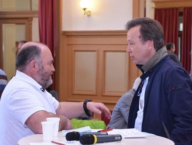 Koordinator des Schulverbundes Josef Kühebacher mit Karl-Heinz Imhäuser