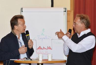 Hochklassige Referenten: Karl-Heinz Imhäuser und Gerald Koller
