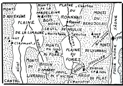 Grandes divisions topographiques de la région