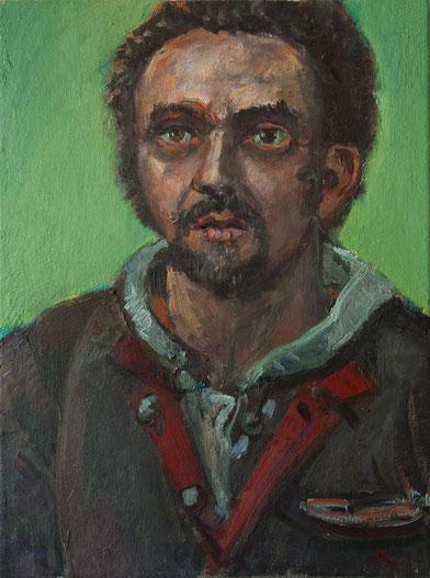 Der Maler Jose De Leon, 30cm x 40cm, Öl auf Leinwand, 2007