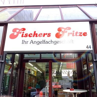 Angelgeschäft Fischers Fritze Berlin Haupteingang