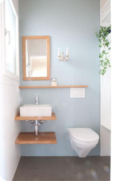 Gästetoilette efh gästetoilette farb stoff farbe schafft raum