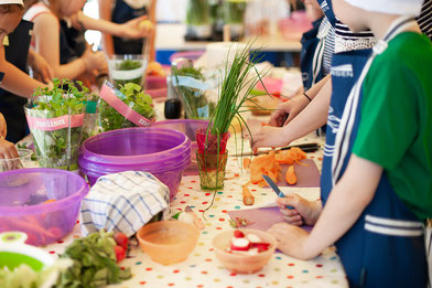Mit Kindern leckere und gesunde Gerichte kochen