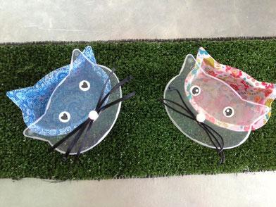 """Boîtes chat avec du papier """"décopatch"""""""