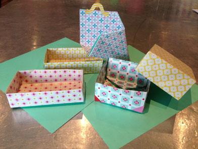 Boites d'origami