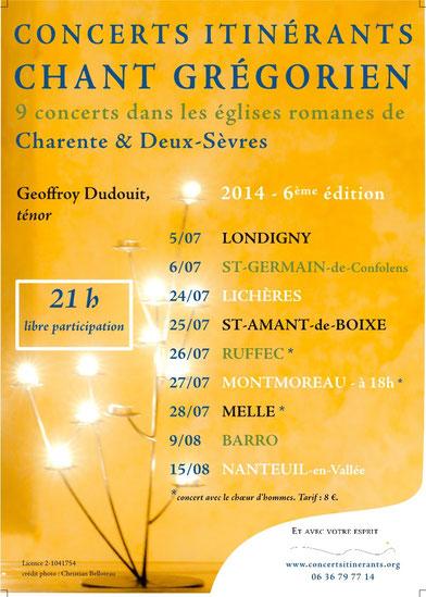 Concerts itinérants 2014