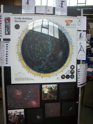 Die größte drehbare Sternkarte