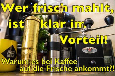 Große Auswahl an Kaffeemühlen