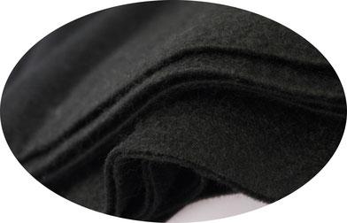Filztuch schwarz, ca. 1mm dick, 1,80m Breite, Viskose