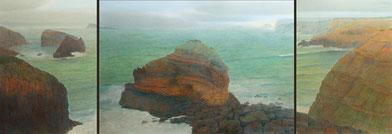 Westküste , (Westcoast) (Portugal) Triptychon,70x50,70x100,70x50cm