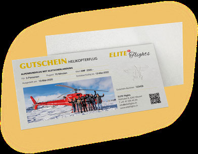 Elite Flights Gutschein Helikopterflug, Rundflug, Alpenrundflug mit Gletscherlandung, Alpenflug, Gletscherflug, Gletscherapéro, Helikopterrundflug, Helikopter fliegen, Beromünster, Grenchen, Basel