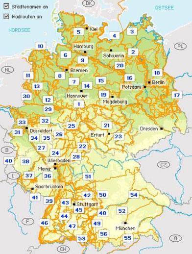 Link: Deutschland per Fahrrad entdecken.