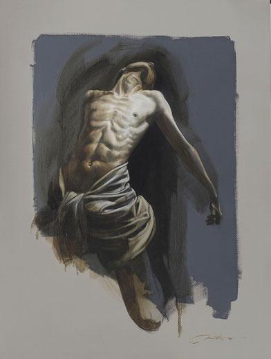 """F.Martin© """"Abandon II""""  Huile sur toile 116X89"""