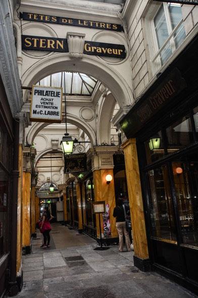 Galerie Vivienne/Galerie Panorama - die Galerien waren die Vorläufer der Warenhäuser