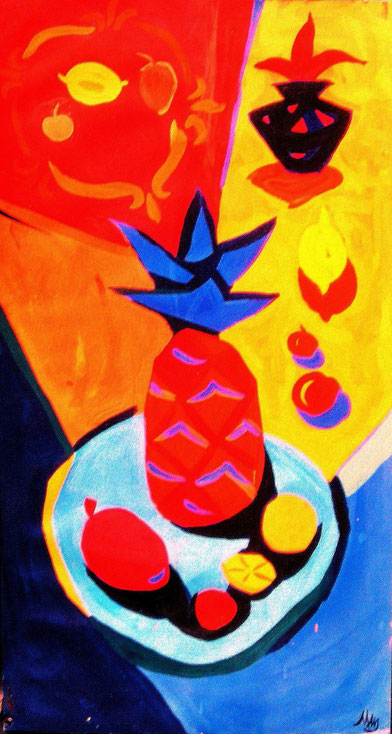 Ананас , декоративная, современная,живопись, гуашь, темпера, Циркина, Богачева, Мария, Tsirkina, Bogacheva,