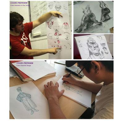 sur ces 2 exemples : Cours de morpho synthetique adapté aux personnages toon et cours de character design - Atelier La Petite Muse