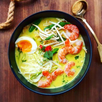 Japanese miso noodle ramen soup