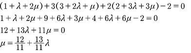 Rechenweg zum Berechnen der Lage von zwei Ebenen