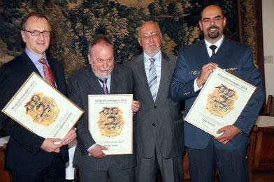 Hans-Jürgen Kerkhoff (Köhler-Osbahr-Stiftung), Werner Schulz, Hermann Weßlau, Peter Bunzeck (Foto: H. Pischke)
