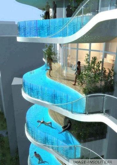 Les piscines les plus spectaculaires marie 39 s home for Piscine entre 2 immeubles