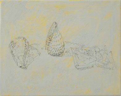 o.T. 2010 (87) Bleistift, Temperafarbe 24 x 30 cm