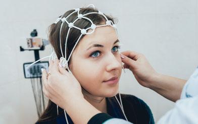 Neurofeedback Therapie erfolgt mit EEG Messung
