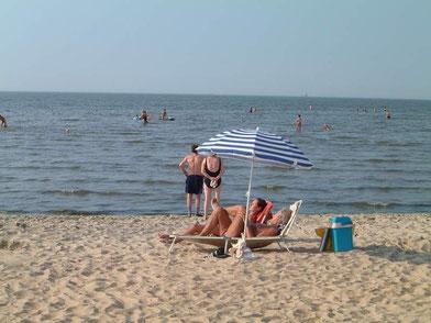 Sandstrand Cuxhaven - gesunde Luft