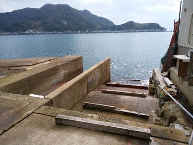 舟屋の基礎
