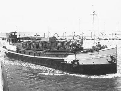 Die FORTUNA als Küstenmotorschiff