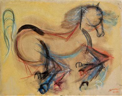 Décennie 2010 // Cheval préssé (Peinture sur papier)