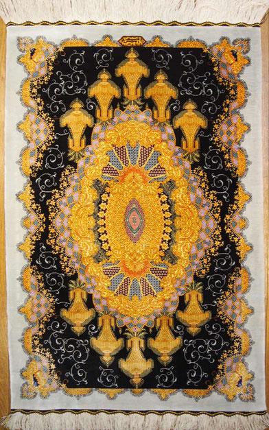 QUM silk  AMIRNAGHASH 90cmX60cm