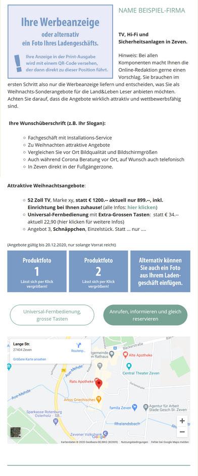 Werbung LK ROW und OHZ regional Weihnachten 2020