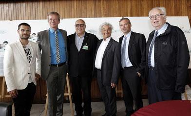 Sammy Molcho, Jamin Mahmoud, Ulrich Spies, Vorstand Guido-Heiland-Bad