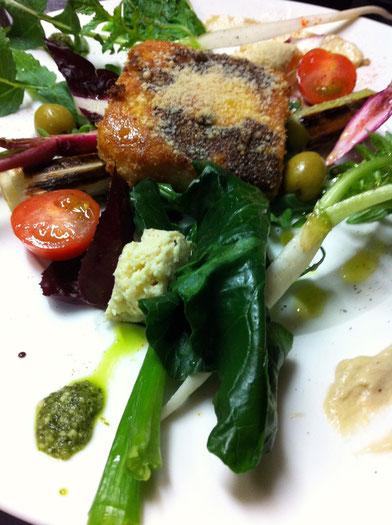 有機野菜とポレンタのクロケッタ