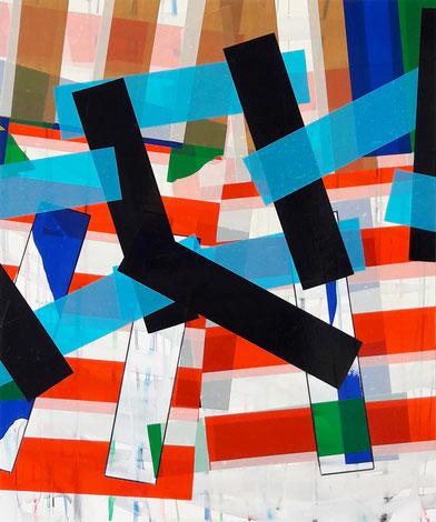 Rythme n°80, dim. 48 cm x 40 cm, 2020