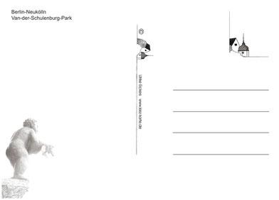 """Rückseite der Postkarte """"Von-der Schulenburg-Park"""""""