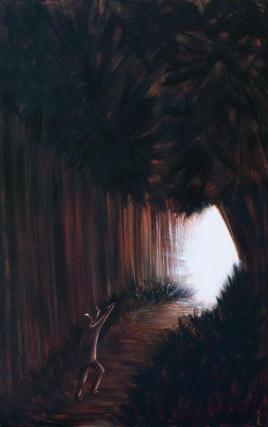 """""""Sortie du tunnel""""  - 102x67cm"""