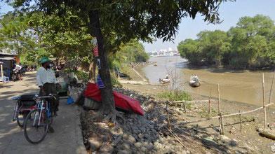 Bild: Yangon-River in Myanmar