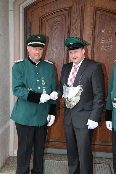 Major Heinz Schröder & König Dennis Gipperich