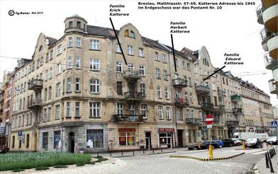 Die Matthiasstraße heißt heute Jednosci Narodowej