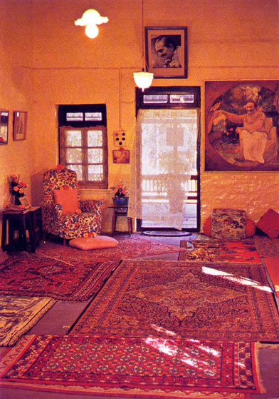 Mandali Hall, Meherazad, India.  Early-mid 1970s