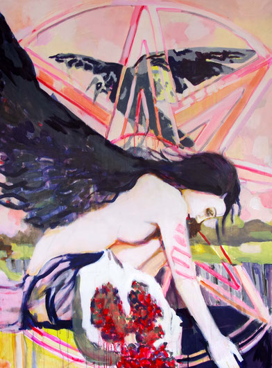 Stephanie Nückel, Inanna,  2017,  Acryl auf Malgrund,  150 x 110 cm