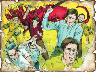 ce sont les serviteurs de Dieu vivant sur la Terre au temps de la fin qui subiront les persécutions de la grande tribulation attisée par la colère de Satan le Diable qui sait qu'il ne lui reste que peu de temps.
