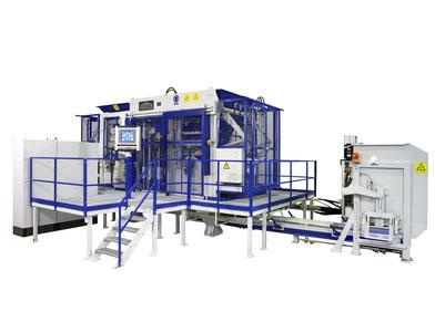 Máquina producción superpuesta